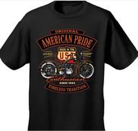 Wholesale MEN S BIKER T SHIRT American Pride Enthusiast MOTORCYCLE TRADITION US Europen size S XL