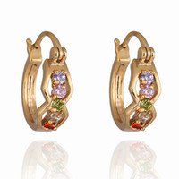Charm alternative jewelry - Retro Earring Women Lady Alternative Colorful Unique Hoop Punk Environmental Copper K Gold Plating Earring Jewelry ER0247 J C