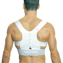 Wholesale S5Q Adjustable Unisex Magnetic Posture Back Shoulder Corrector Support Brace Belt AAABSI