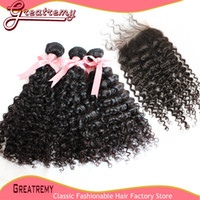 5A Unprocessed 100% Indian Virgin Human Hair Extensions Curl...