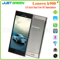 WCDMA Dual Core Android China Brand Lenovo K900 5.5'' IPS FHD Screen 2GB RAM 16GB ROM Intel Atom Z2580 Dual Core 2.0GHZ Android 4.2 3G Smartphone Promotions