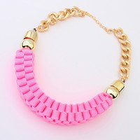 Wholesale Min order mix handmade weave choker necklace for women jewerly fashion exaggerated statement collar necklace