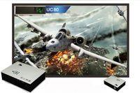 Wholesale UC80 Lumens Multimedia LED LCD Portable Projector HDMI AV VGA Port USB White ZQ02