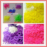 Cheap scented bands diy rainbow loom Rainbow Loom Refill Rubber Bands 300 Pcs package+12 Clips - Neon,Toys Glow in the Dark