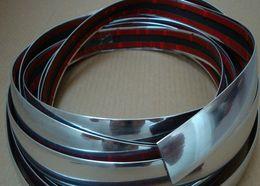Universal 15M 30MM Car Protector Bumper Guard Chrome Moulding Trim Strip Silver