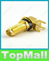 Wholesale JJ695 mm SMA female nut bulkhead right angle PCB deck connector