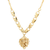 Wholesale 2014 New K Plated Yellow Gold Necklace Women Copper Jewelry Necklace For Party XL0006 J M