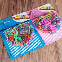 Cheap DIY Rainbow Loom Kit Rubber loom Bracelet Wrist Bands (300pcs bands+1pcs hook+12pcs S Clips+1pcs slingshot) lovers