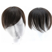 Wholesale 30g Virgin human hair Seamless bangs No simulation scalp Replacement top piece hand woven head style bangs ZH06