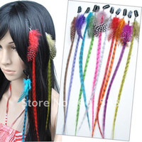 Wholesale 10pcs Synthetic Grizzly Feather Clip on Hair Extensions APP52