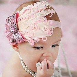 Wholesale Feather Fascinator Headband Hair Clip Baby Toddler Child Girls Hairband Photo Prop Infant Headbands with Feathers best Baby gifts