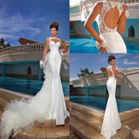 Sexy Formal Open Back With Lace Cheap Bridal Dresses Bling 2...