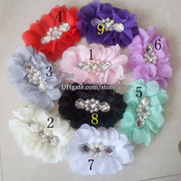 baby bow headband - Chiffon Flower Hair Things Hair Bows Childrens Accessories Children Hair Accessories Kids Girls Headbands Hair Flowers Baby Hair L32098