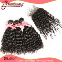 100% Unprocessed Peruvian Virgin Human Hair Extensions Curly...