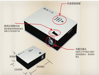 Wholesale UC80 Lumens Multimedia LED LCD Portable Projector HDMI AV VGA Port USB White ZQ130