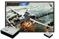 Wholesale UC80 Lumens Multimedia LED LCD Portable Projector HDMI AV VGA Port USB White ZQ1