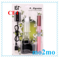 Pink   mo2mo-CE4 ECT Blitster Electronic Cigarette CE4 Starter Kit ECT E cig kit kits 1.6ml Atomizer EGO 650mah battery-Pink