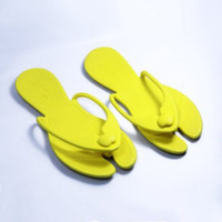 Cheap 2014 Newest Summer Style shoes Women Men Fashion Lovely PVC Slippers For Family Beach Outdoor Yellow
