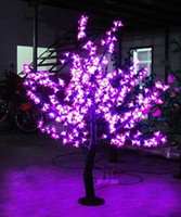 Wholesale LED Christmas Light Cherry Blossom Tree Lamp LED Bulbs m Height VAC Pink Rainproof Outdoor Use Drop Shipping