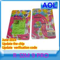 Wholesale Update in June R SIM RSIM9 R SIM9 Pro Perfect SIM Card AUTO Unlock Official IOS for iphone S G S C GSM CDMA WCDMA G