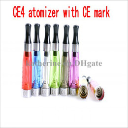 Wholesale CE4 atomizerr E cig CE mark ml clearomizer with ROSH certification for ego T battery cartomizer E cigarette Colors instock High Quality