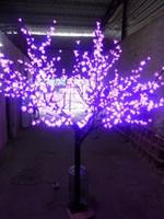 Wholesale LED Night Light Cherry Blossom Tree Light LED Bulbs m Height VAC Pink Rainproof Outdoor Use Drop Shipping