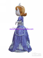 Mascot Costumes Unisex Costum Made Hot Sale Mascot Costume New Free Shipping Deluxe Sofia the First Mascot Costume, Sofia Mascot Costume 100% Real Pictures! with helmet