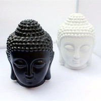aroma oil lamps - Buddha candle holders aromatherapy furnace ceramic lamp candle aroma furnace oil lamp essential oil burner home decoration birthday gifts
