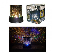 star lasers - 2014 Colorful cosmos stars laser LED projector Star Projector Lamp LED Night light lantern romantic gift