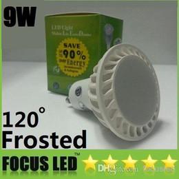 2014 New Frosted Cover 9W Led Bulbs Light GU10 E27 E26 COB 120 Angle Cool Warm White Dimmable Led Spotlights 110-240V 12V + CE ROHS UL CSA