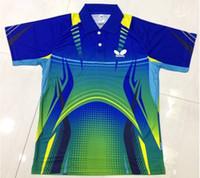 Wholesale 2014 New Butterfly Table Tennis Shirts Men Quick PingPong T Shirt Badminton Polyester Shirt