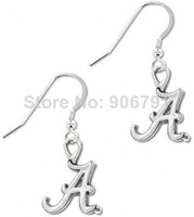 Dangle & Chandelier alabama university sports - pairs a alloy Alabama University quot A quot sport earrings