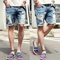 Cheap 2014 NEW famous brand summer denim shorts for men casual fashion silm fit short ripped jeans mens designer pants men's clothing