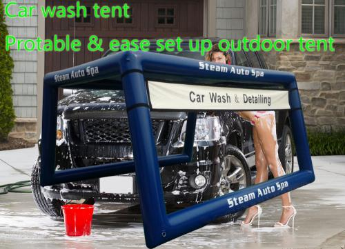 Car Wash Tent Mobile Portable Tent Inflatable Airtight ...