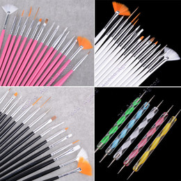 Wholesale 20pcs Nail Art Design Set Dotting Painting Drawing Polish Brush Pen Tools SV002093