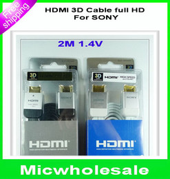 Wholesale 10pcs new M Version HDMI D Full HD cable For Sony HDTV PS3 XBO X360 high spead P with retail package