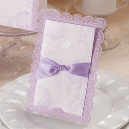 Wholesale Romantic amp Fantastic Lavender Free Personalized amp Customized Printing Wedding Invitations Cards Custom