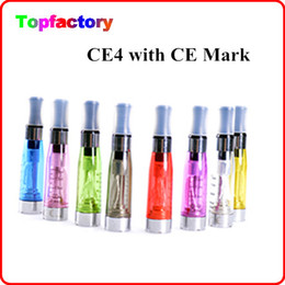 Wholesale Ego CE4 Atomizer Electronic Cigarette E cigarette Capacity ml CE4 long wick clearatomizer various colors With CE Mark
