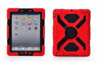 Wholesale Pepkoo Defender Military Spider Stand Water dirt shock Proof Case Cover Ipad iPad Air iPad Mini Retina