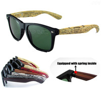 PC wood eyewear - Wood Sunglasses Designer Natrual Bamboo Sunglass Eyewear Glasses Style Hand Made Wooden Temples k301