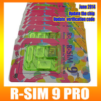 Wholesale R SIM RSIM9 R SIM9 Pro Perfect SIM Card Unlock Official IOS for iphone S G S C GSM CDMA WCDMA unlock