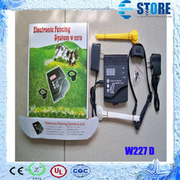 Wholesale Smart Rechargeable Electronic Dog Collar pet Fencing System W D Be Care Strong Shock DHL Free