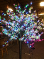 Wholesale 648 LEDs ft Height LED Maple Tree LED Christmas Tree Light Waterproof VAC RGB Color Outdoor Use Drop Shipping