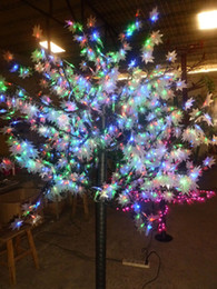 648 LEDs 5ft Height LED Maple Tree LED Christmas Tree Light Waterproof 110 220VAC RGB Color Outdoor Use Free Shipping Drop Shipping
