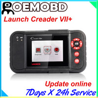 Wholesale 100 Original Launch Creader Creader vii Auto Code Reader Launch Creader VII plus for Engine Transmission ABS and Airbag systems