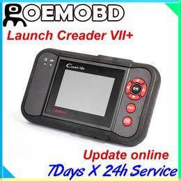 Wholesale 100 Original Launch Creader Creader vii Auto Code Reader Creader VII plus OBDII OBD2 For American European and Asian Cars