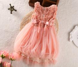 Wholesale 2014 spring children s clothing girls dress girls lace sleeve dress baby princess Canopy tent dress dress