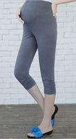 Wholesale Maternity clothing Pleated Capri Leggings Plus Size Abdominal Pants clothes for Pregnant women pregnancy pant trousers
