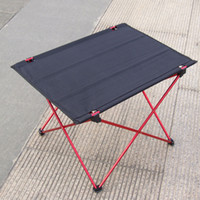 Wholesale 2014 NEW Ultra light Aluminium Alloy Portable Foldable Folding Table Desk for Camping Outdoor Picnic H10835