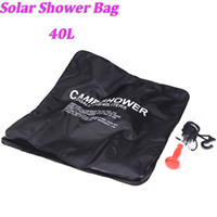 Wholesale 2015 NEW L Gallon Camping Hiking Solar Heated Camp Shower Bag Outdoor Shower Water Bag Portable H10958